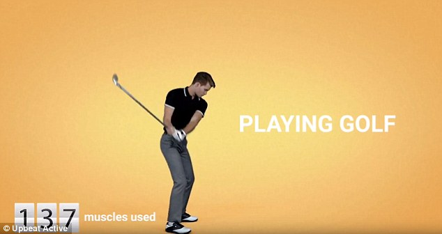 a golf drive uses 137 muscles