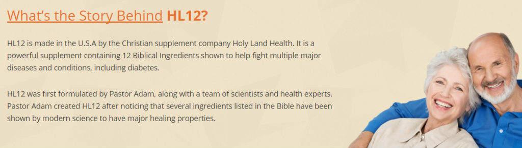 HL12 Supplement: - Holy Land Health Diabetes