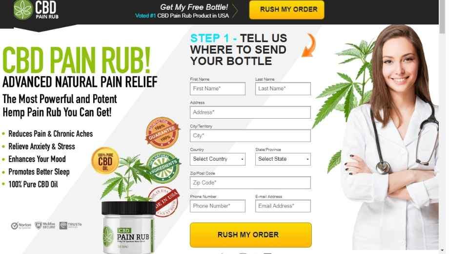 CBD Pain Rub :CBD Cream For Pain Management, Effects And Benefits