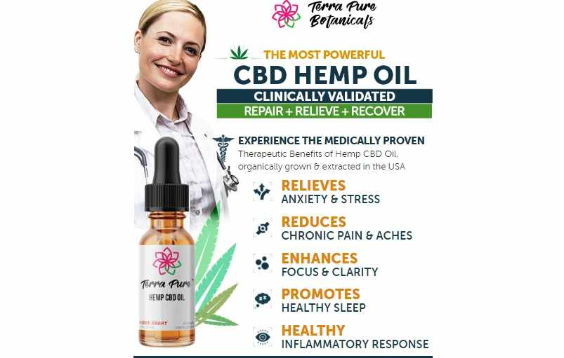 Terra Pure CBD Oil Reviews : Full Spectrum Terra Pure Botanicals CBD Oil