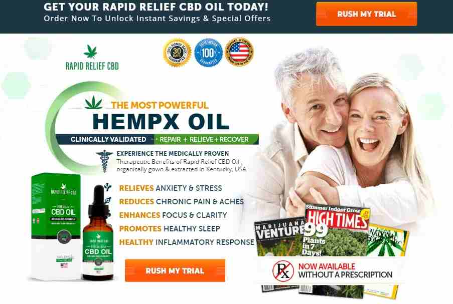 Rapid Relief Premium CBD Oil Review : CBD Oil Benefits & Price
