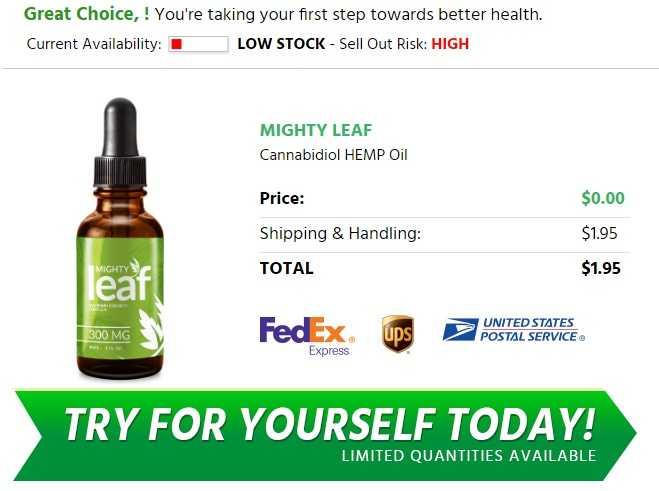 Mighty Leaf CBD Oil Reviews